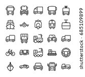 automobile line vector icons 5 | Shutterstock .eps vector #685109899