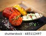 grilled vegetables. tomato ... | Shutterstock . vector #685112497