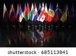 indoor flag of countries  | Shutterstock . vector #685113841