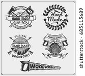 joinery and hand made emblems ... | Shutterstock .eps vector #685115689