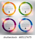 abstract circle vector banner... | Shutterstock .eps vector #685117675