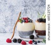 various dessert breakfast...   Shutterstock . vector #685125724