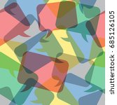 seamless pattern illustration ... | Shutterstock .eps vector #685126105