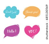 set of colorful hand drawn... | Shutterstock .eps vector #685130569