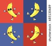 banana vector with emoticon   Shutterstock .eps vector #685130689