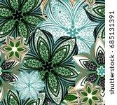 seamless floral pattern. | Shutterstock .eps vector #685131391