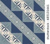 seamless ceramic tile with...   Shutterstock .eps vector #685131661