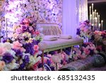 Small photo of The pelamin or wedding dais is specially created in a traditional Malay wedding.It is usually grandly designed and gaily decorated, to create some symbolism of a king and queen sitting in state.