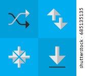vector illustration set of... | Shutterstock .eps vector #685135135