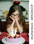 adorable kid girl in elegant... | Shutterstock . vector #685136119