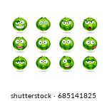 set of cute and funny... | Shutterstock .eps vector #685141825