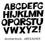 comic black and white alphabet. ... | Shutterstock .eps vector #685142455