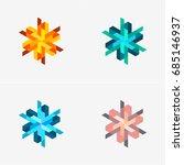 modern abstract design vector... | Shutterstock .eps vector #685146937