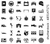 maintenance icons set  simple... | Shutterstock .eps vector #685147171