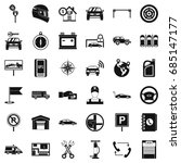 auto garage icons set  simple... | Shutterstock .eps vector #685147177