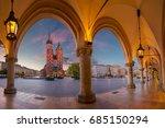 krakow. image of krakow market...   Shutterstock . vector #685150294