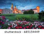 krakow. image of old town... | Shutterstock . vector #685154449