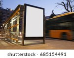blank advertisement in a bus... | Shutterstock . vector #685154491