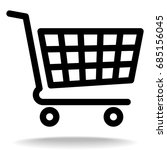 shopping cart vector icon ... | Shutterstock .eps vector #685156045