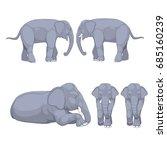 elephant set | Shutterstock .eps vector #685160239