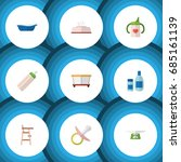 flat icon infant set of tissue  ... | Shutterstock .eps vector #685161139