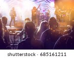 crowd at concert and colorful... | Shutterstock . vector #685161211