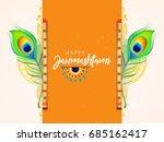 happy janmashtami design... | Shutterstock .eps vector #685162417