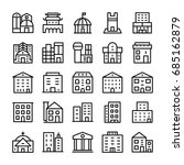 buildings  landmarks line... | Shutterstock .eps vector #685162879