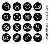 website menu navigation round...   Shutterstock .eps vector #685163341