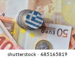 euro coin with national flag of ... | Shutterstock . vector #685165819