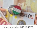 Euro Coin With National Flag O...