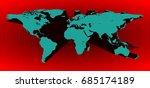blue 3d world map in vector on...   Shutterstock .eps vector #685174189
