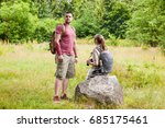 guy with a girl  a young couple ... | Shutterstock . vector #685175461