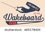 vector logo wakeboard club in... | Shutterstock .eps vector #685178404