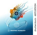 world industrial technology...   Shutterstock .eps vector #685185034