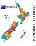 new zealand map vector | Shutterstock .eps vector #685185094