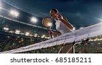 female tennis player celebrates ... | Shutterstock . vector #685185211