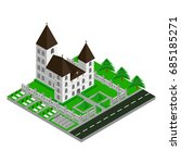 isometric church building 3d... | Shutterstock .eps vector #685185271