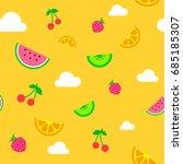 flat art simple yellow summer... | Shutterstock .eps vector #685185307