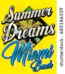 vintage miami beach sport... | Shutterstock .eps vector #685186339