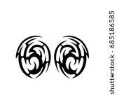 tribal tattoo art designs.... | Shutterstock .eps vector #685186585