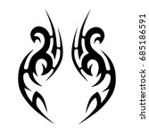 tattoo tribal vector design.... | Shutterstock .eps vector #685186591