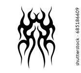 tattoo tribal vector design.... | Shutterstock .eps vector #685186609
