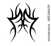 tribal tattoo art designs.... | Shutterstock .eps vector #685186639