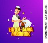 cartoon character of islamic... | Shutterstock .eps vector #685186801