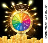 realistic 3d spinning fortune... | Shutterstock .eps vector #685189804