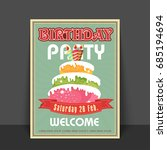 vintage greeting card or... | Shutterstock .eps vector #685194694