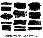set of black paint  ink brush...   Shutterstock .eps vector #685195861
