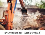 details of backhoe excavator... | Shutterstock . vector #685199515