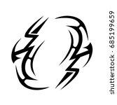 tribal tattoo art designs.... | Shutterstock .eps vector #685199659